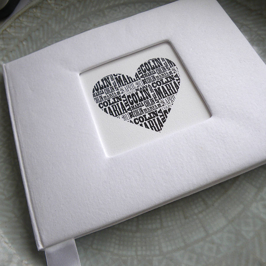 personalised wedding guest book by letterfest ...