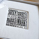 Vintage Typographic Couples Name Guest Book
