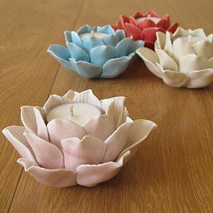Lotus Flower Tea Light Holder - votives & tea light holders