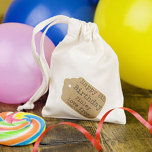 Personalised Birthday Mini Bag - ribbon & wrap