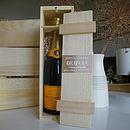 Engraved Wooden Presentation Box For Bottles