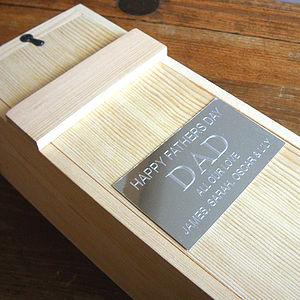 Engraved Wooden Presentation Box For Bottles - drink & barware
