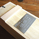 Engraved Wooden Presentation Box For Bottles
