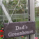 Dad's Greenhouse Engraved Sign