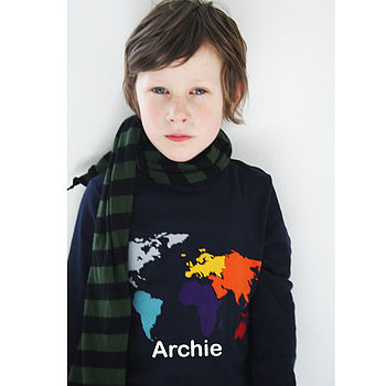 Personalised World Map T Shirt