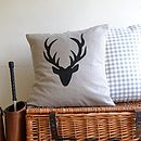 Stag Head Antler Cushion