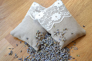 Pair Of Lace Lavender Bags