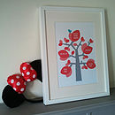Personalised New Baby Birth Tree Print