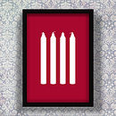 Four Candles Screen Print