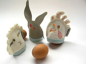 Baa, Boing And Cluck Egg Cosies