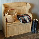 Country Pine Bench With Storage