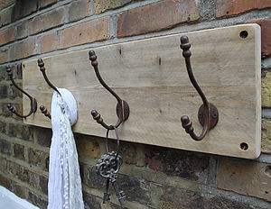 Reclaimed Wooden Acorn Hat And Coat Hook - bathroom