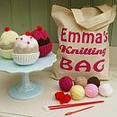 Cupcake Knit Kit And Personalised Bag