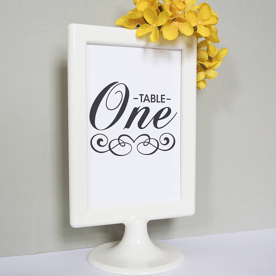 set of 10 wedding table number cards by doodlelove