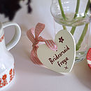 wedding heart personalised for a bridesmaid