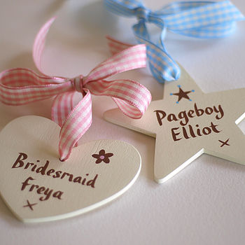 personalised wedding favours - for girls and boys