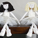 ivory silk rag dolls with dark brian and blonde hair
