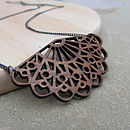 Antique Fan Necklace