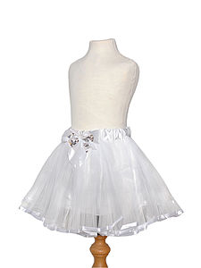 Angel White Tutu With Bow - toys & games