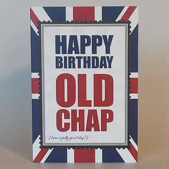 British Old Chap male birthday greeting card