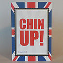 British Chin Up greeting card