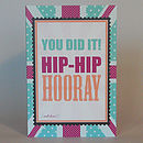 British 'hip hip hooray' congratulations greeting card