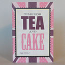 British tea and cake birthday greeting card