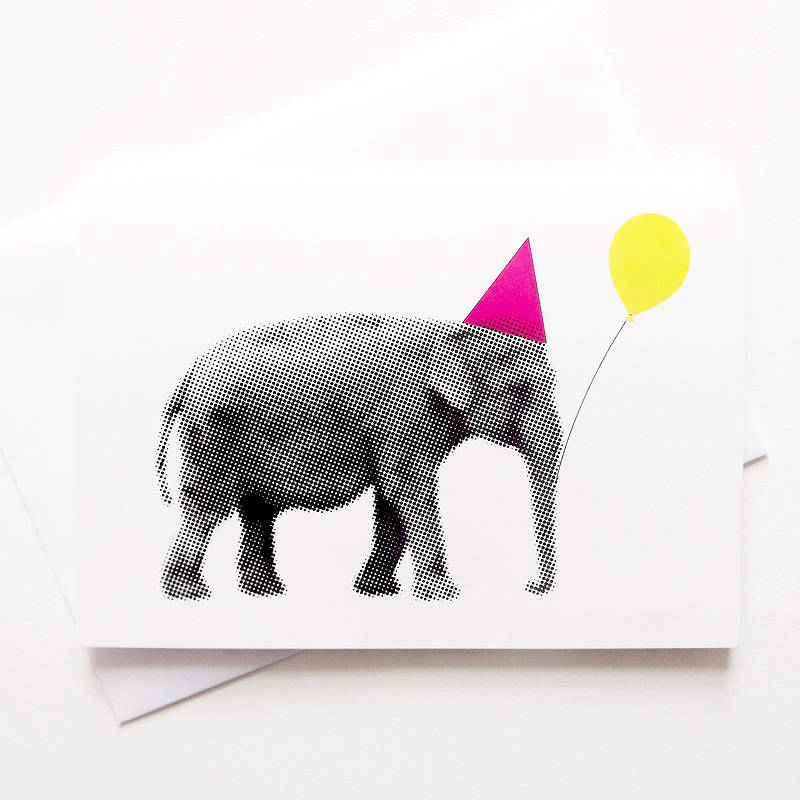 funny birthday elephant card by hello dodo notonthehighstreetcom