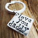 Personalised Three Little Words Key Ring