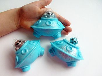 Handmade Alien Spaceship Soap