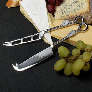 Cheese Knives - Gift Boxed set of Two - non-personalised