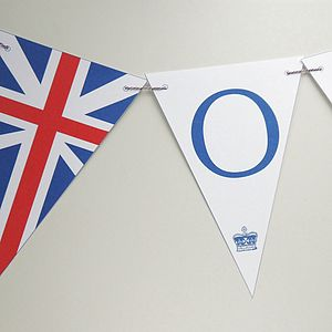 Personalised Union Jack Bunting - room decorations