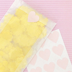 Heart Stickers - ribbon & wrap