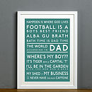 Bespoke 'The World According To' Print - Teal