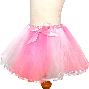 Satin Tutu And Satin Hair Bow - fancy dress