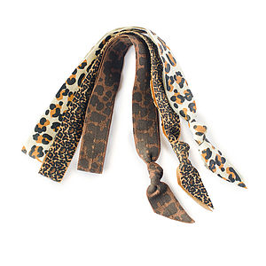 Animal Print Ribbon Head Bands