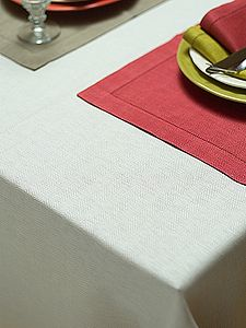 Handmade Hemstitched Linen Tablecloth Emilia