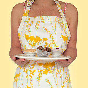 Cow Parsley Design Apron - kitchen