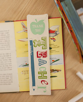 'Thank You Teacher' Fabric Bookmark