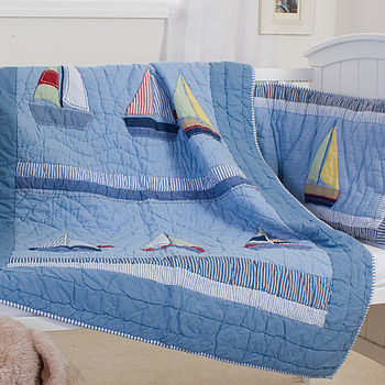 Boats Cot Bed Quilt