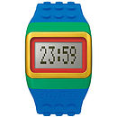 Building Block Inspired Digital Watch