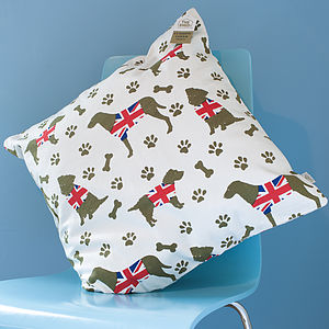 Union Jack Dog Design Cushion