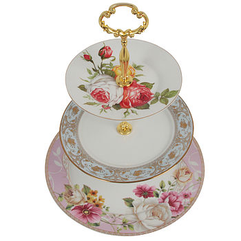 Rose Three Tier Cake Stand