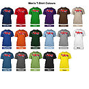 Mens T-Shirt Colours