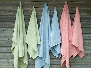 Melange Weaving Linen Bath Towel Francesca