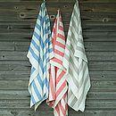 Classic Striped Linen Bath Towel Philippe
