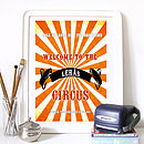 Customised Family Circus Print - Orange