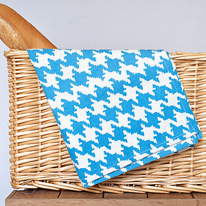 Hounds Tooth Design Tea Towel