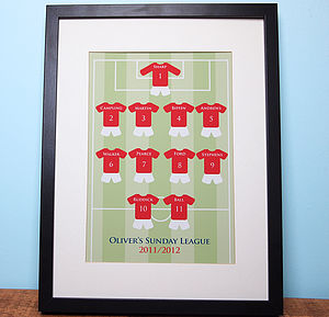Personalised Football Team Print - activities & sports