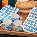 Special Offer 50% Off Houndstooth Design Oven Gloves